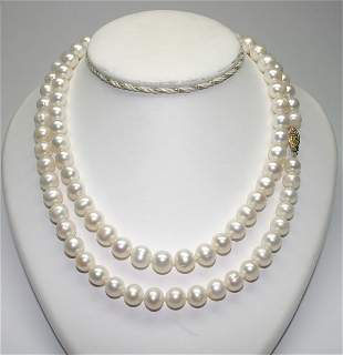30'' INCHS 9-10 mm FRESH WATER PEARLS NECKLACE.