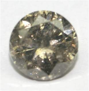 3.CT NATURAL FANCY BROWN DIAMOND .