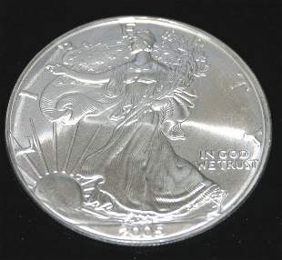 US SILVER DOLLAR COIN 2005 .
