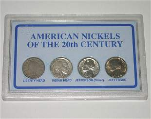 AMERICAN NICKELS OF THE 20th CENTURY .
