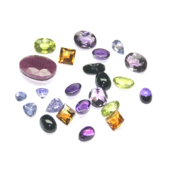 2396: GENUINE 21, CT MULTI  COLOR  GEM STONES .