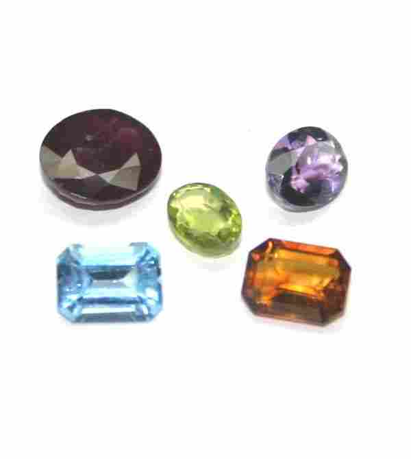 2154: GENUINE 8.60 CT MULTI  COLOR  GEM STONES .