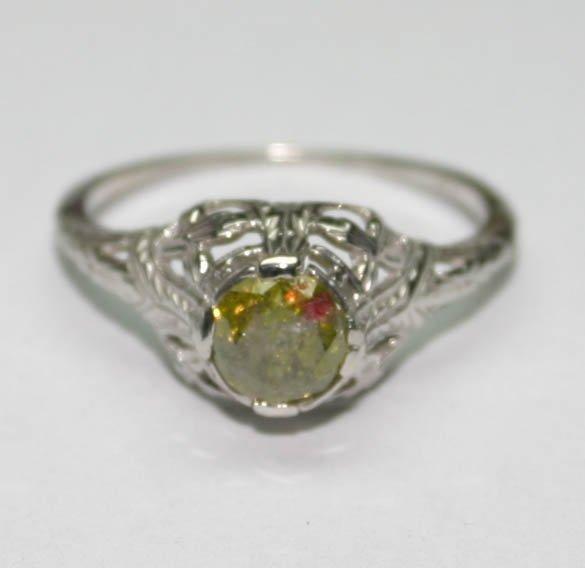4012: GENUINE  0.55 CT DIAMOND 14K GOLD RING .