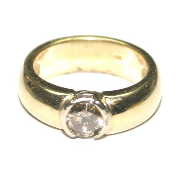 4251: GENUINE 1.30  CT DIAMOND 14K GOLD RING 8.35 GR .