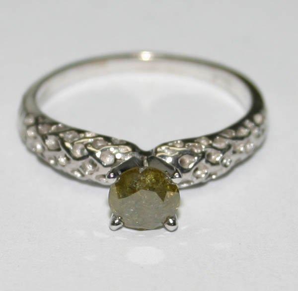 4515: GENUINE  0.50 CT DIAMOND 14K GOLD RING .