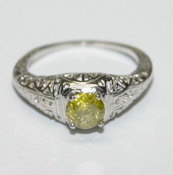 4008: GENUINE  0.50 CT DIAMOND 14K GOLD RING .