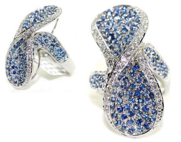2011: 3, CT DIAMOND  &  SAPPHIRE  14K GOLD  RING 10.60
