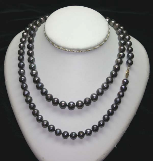 2045: 36'' INCHES  9-10 mm  FRESH WATER PEARLS NECKLACE
