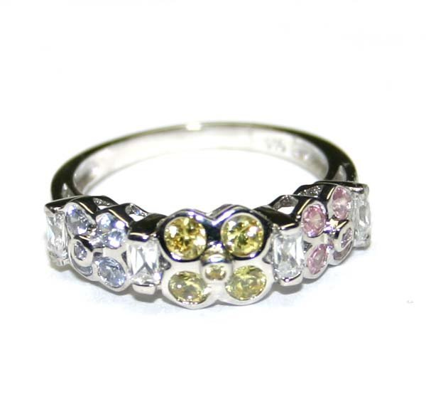2012: LAB  MULTI  COLOR  .925  SILVER  RING  .
