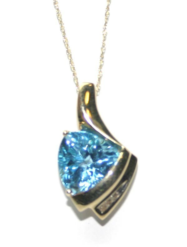 2017: 5,CT DIAMOND & BLUE TOPAZ 10K GOLD PENDANT .