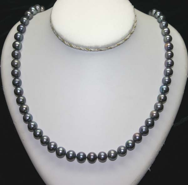 3017: 24'' INCHES  9-10 mm  FRESH WATER PEARLS NECKLACE