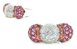 3690: 1.72 CT DIAMOND  & PINK SAPPHIRE 14K GOLD RING .
