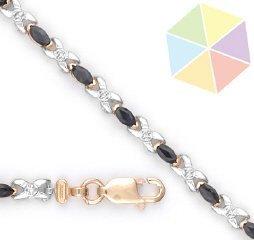 5: Yellow Gold Sapphire Diamond 10K Bracelet