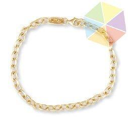 "7: 8"" Yellow Gold Handmade Chain 10K Bracelet"