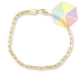 "9: 8"" Yellow Gold Handmade Chain 10K Bracelet"