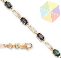 20: Yellow Gold Mystic Topaz 10k Bracelet