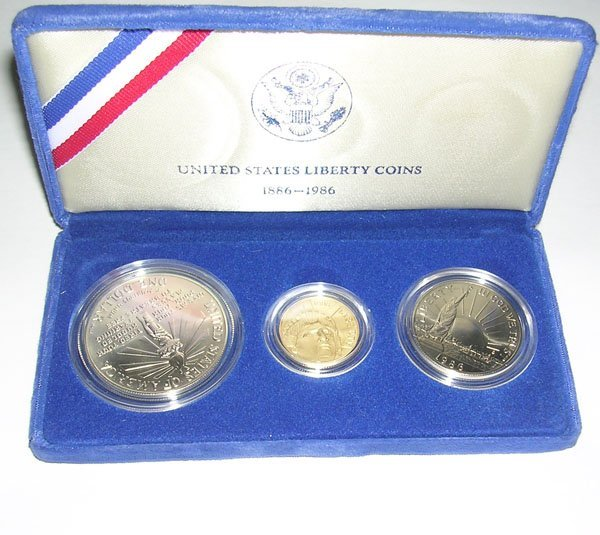 390: UNITED STATES LIBERTY COINS 1886-1986