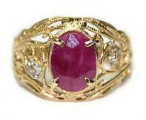 1010 250 CT NATURAL DIA  RUBY 14K G RING