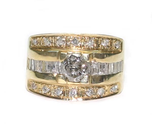 1022: 2.CT DIAMOND  11.5 GR  14K Y/G  RING.