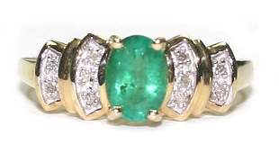 5025 150 CT DIA  EMERALD  258 GR 10K GOLD RING