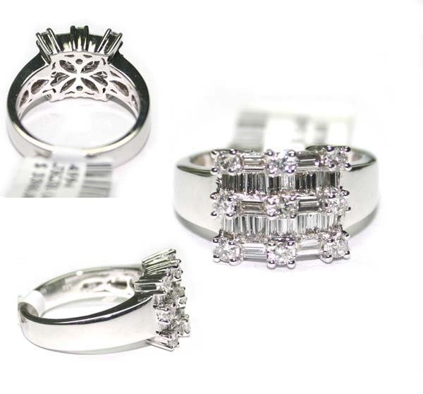 1001: 18K  W/G  DIA  RING 1.16 CT
