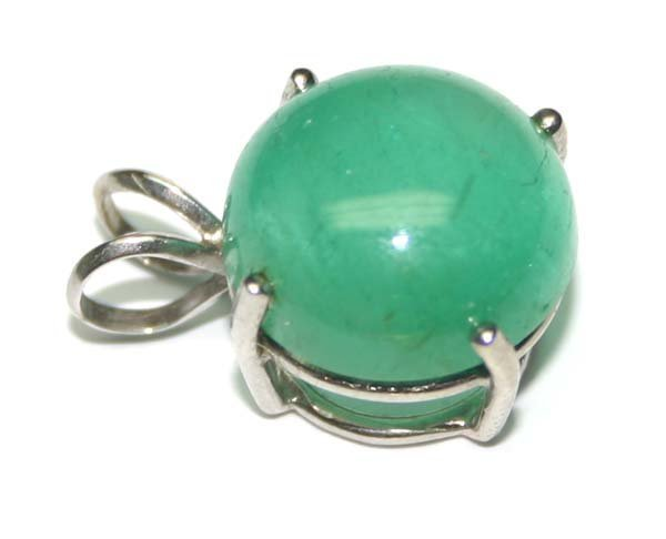 3014: 14.63 CT COLOMBIAN EMERALD PENDENT.