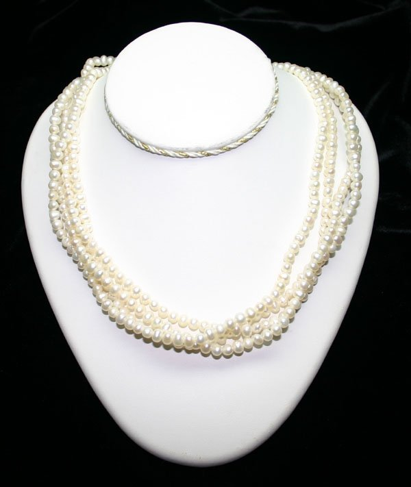 3013: 100 INCHS FRESH WATER PEARL NECKLACE.