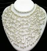 3104: NATURAL FRESH WATER PEARL NECKLACE.
