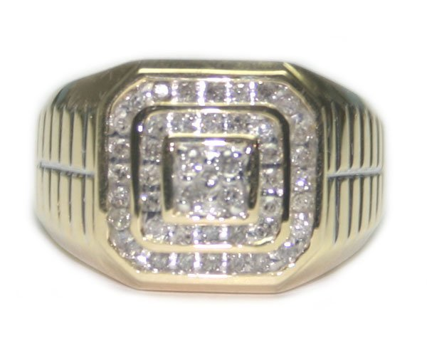 4003: 1.CT  DIA  9.74 GR 14K  GOLD  MEN'S  RING.