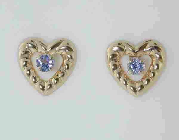 4106: BEAUTIFUL HEART SHAPE TANZANITE EARRINGS