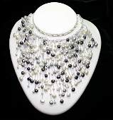 5388: NATURAL FRESH WATER PEARL NECKLACE.
