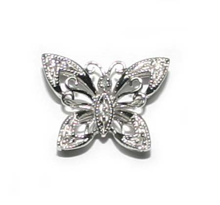 1000: DIAMOND  & GOLD  BUTTERFLY  PENDENT.