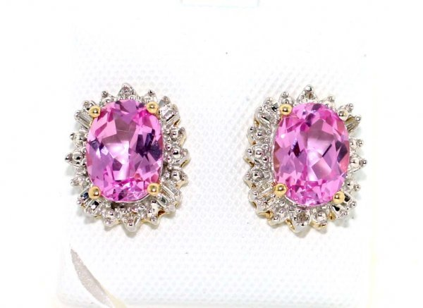 4001: 6 CT DIA AND PINK TOPAZ