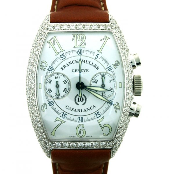 4345: FRANK MULLER GENEVE DIAMOND WATCH
