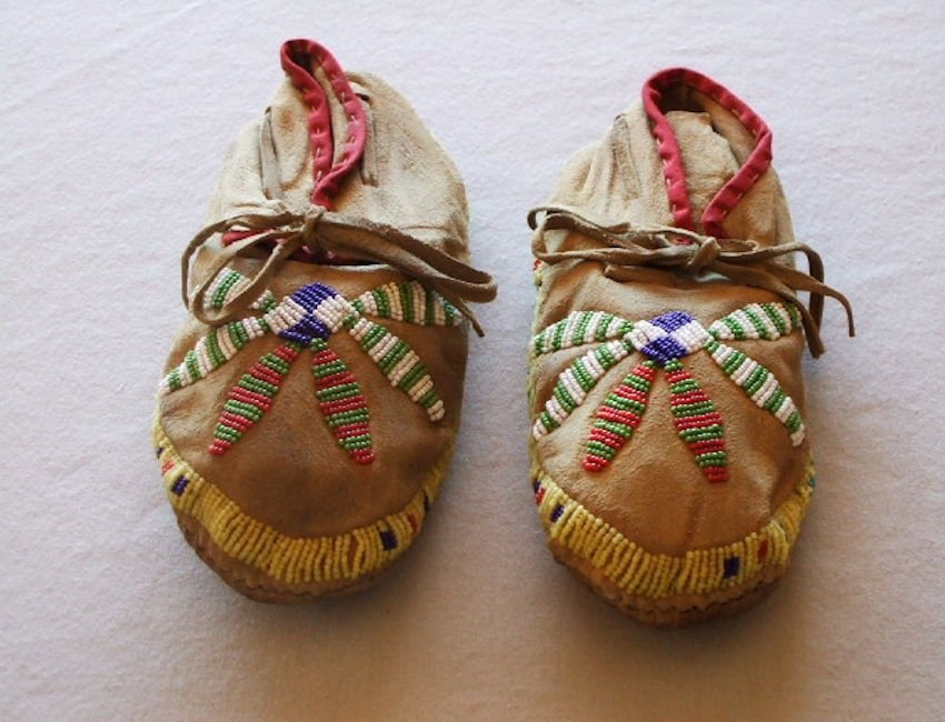 Cheyenne Beaded Child Moccasins
