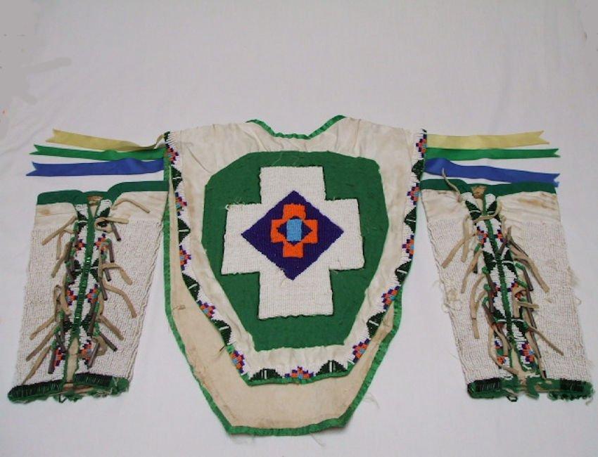 Shoshone Beaded Child's Dance Costume.