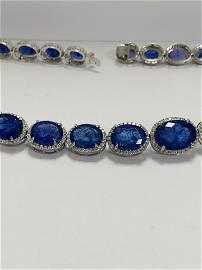 Platinum tanzanite necklace