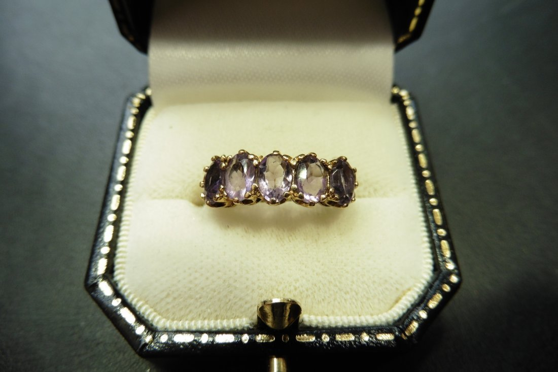 Pre-owned 9ct gold amethyst ring