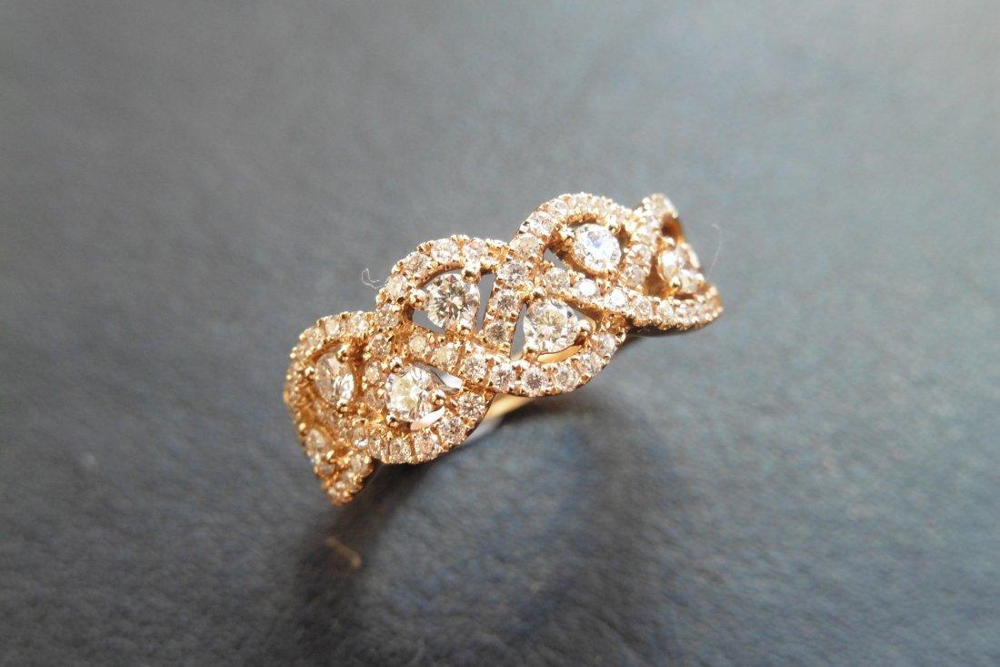 18ct rose gold diamond dress ring