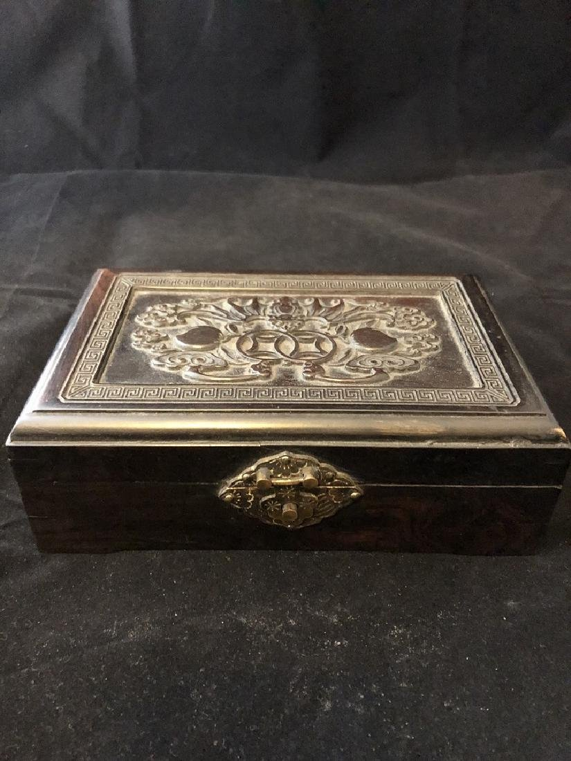 Ancient black wood Box