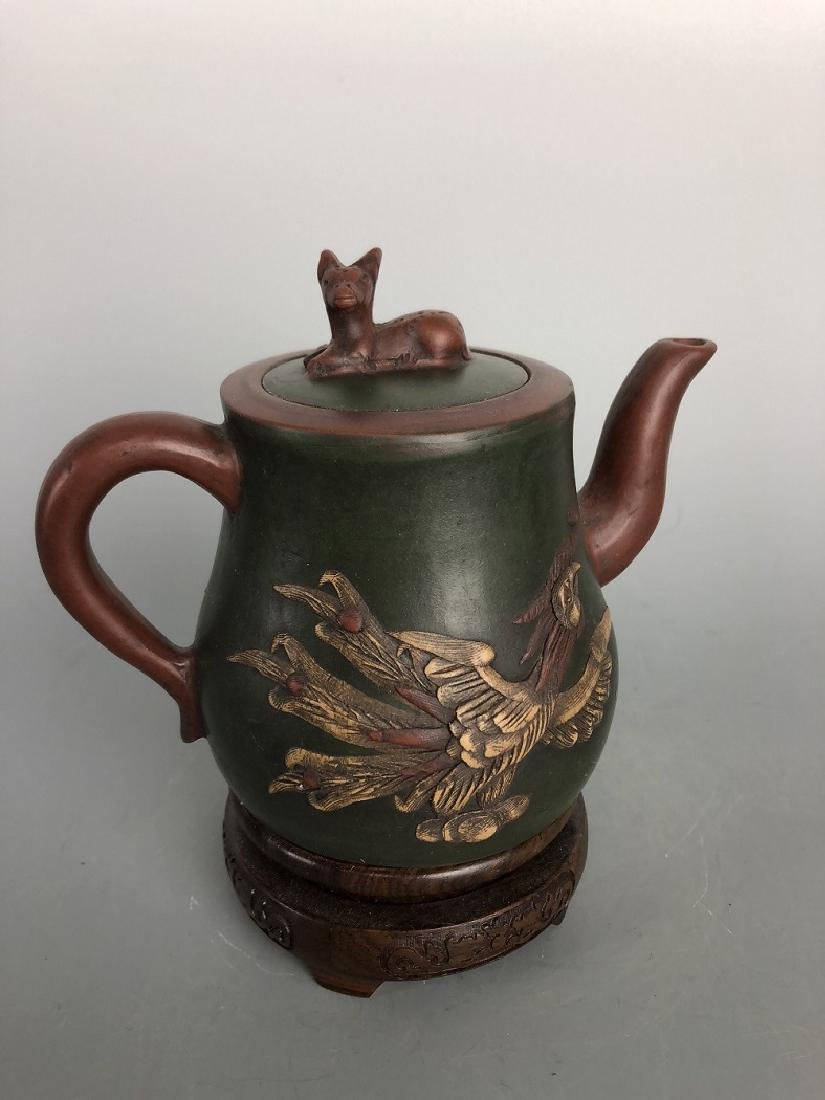 Gu Jingzhou(1915-1996)Seal Master-Zisha tea pot