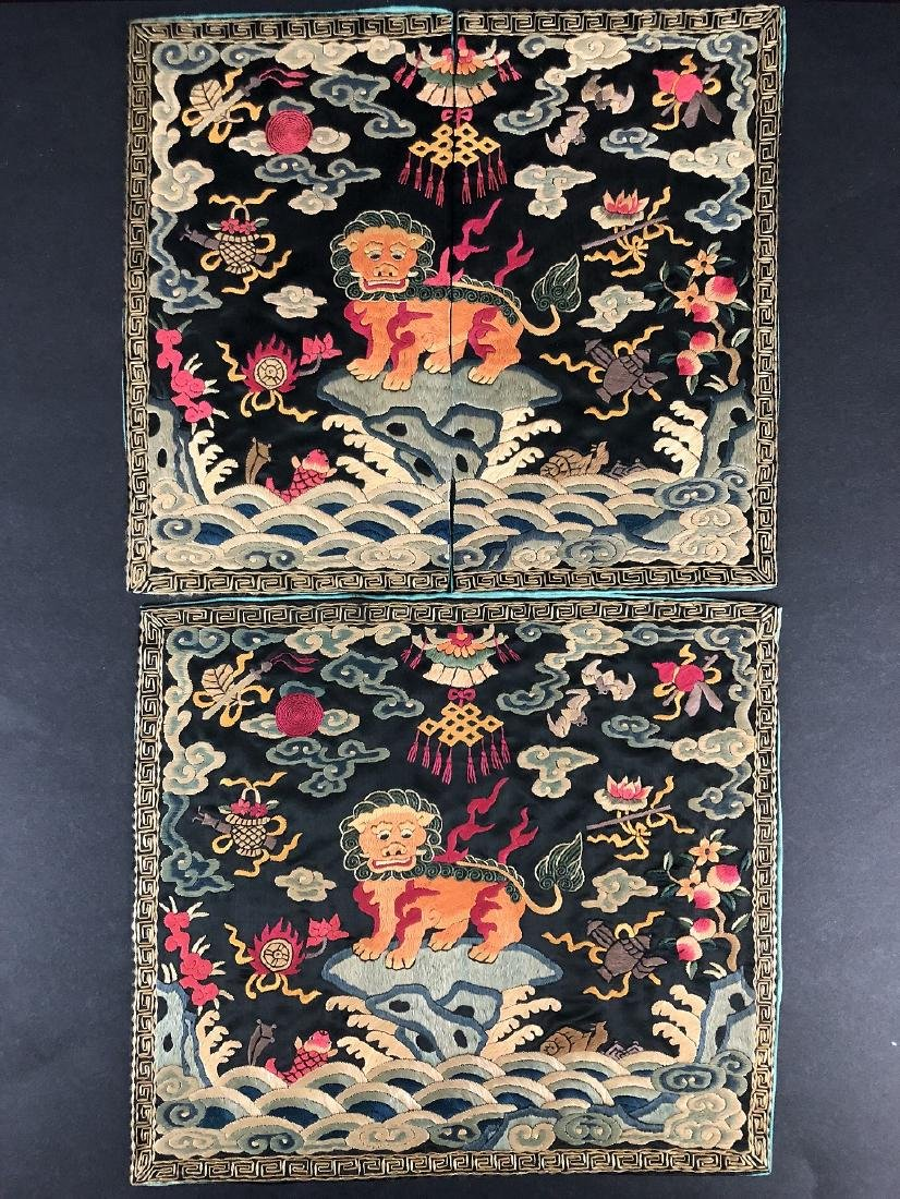 Qing Dynasty Chinese Embroidered General Official