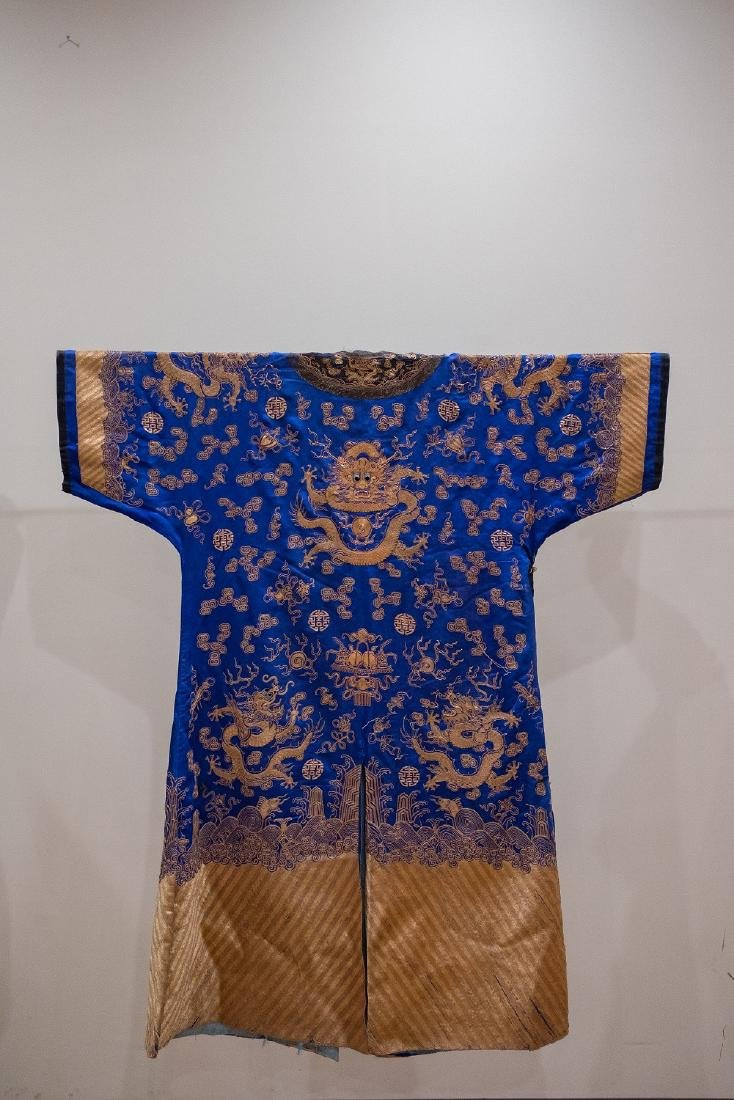 QING Gold Silk Dragon Robe