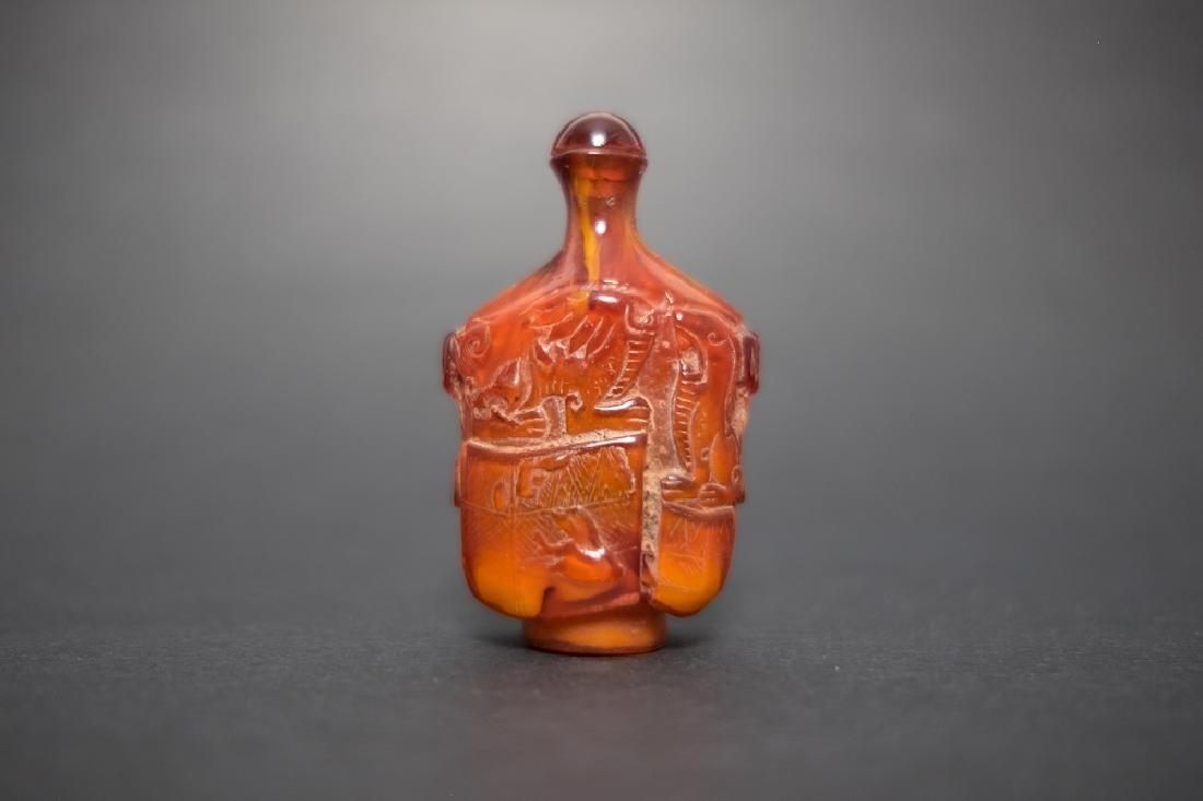 A Butterscotch Amber Snuff Bottle