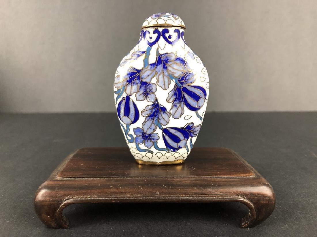 Qing Dynasty Cloisnne Enamel Snuff Bottle