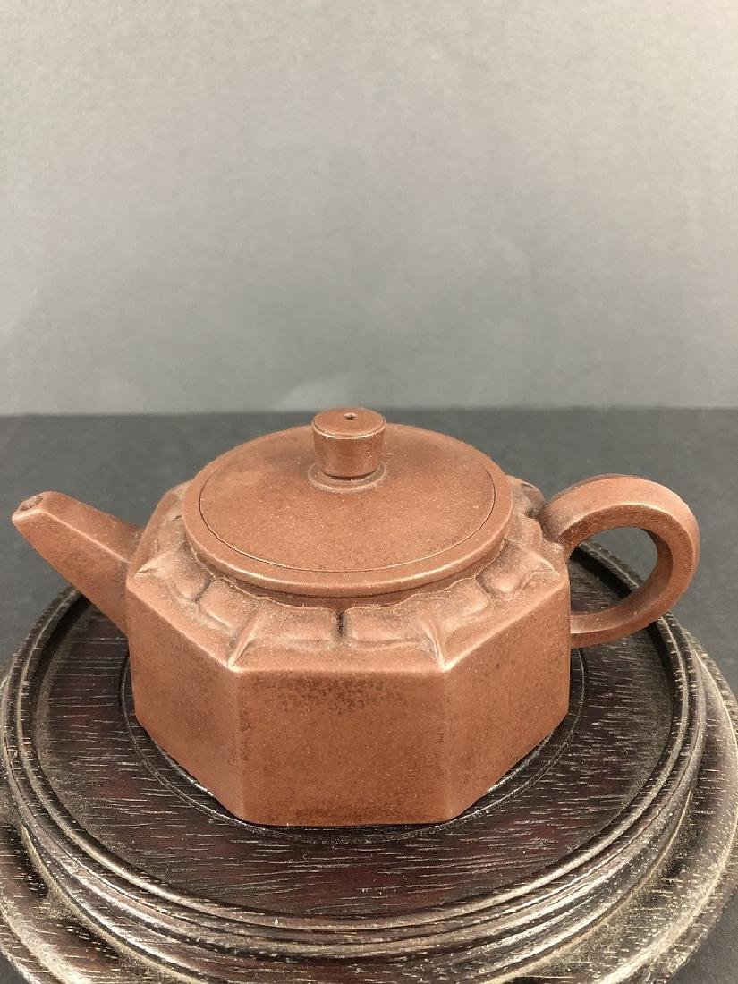19th century.A Perfect Zisha tea pot made by two