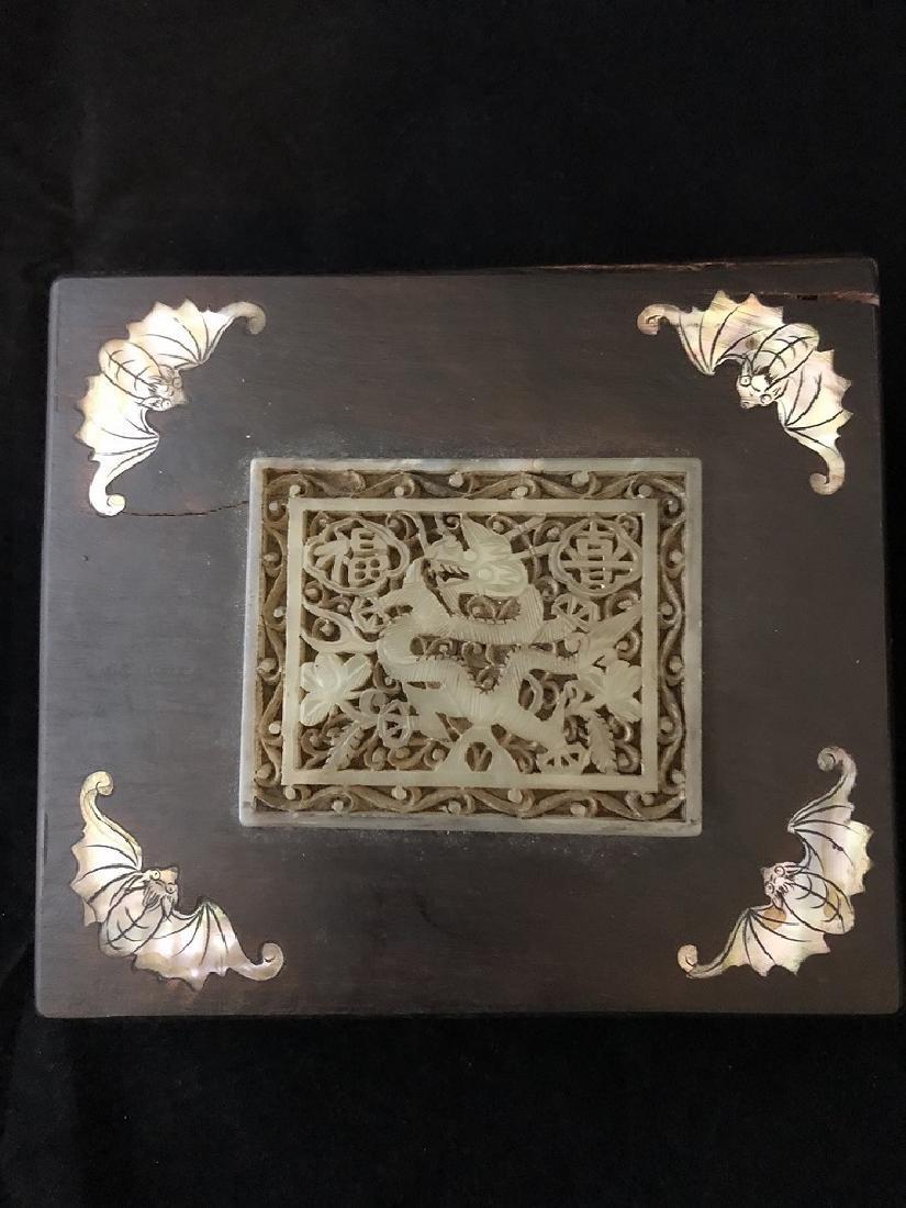 Early 19th century.Beautiful Hard wood box inlaid