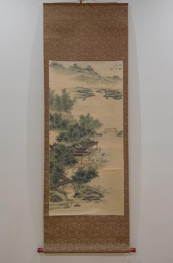 Ancient Bamboo Summer Painting