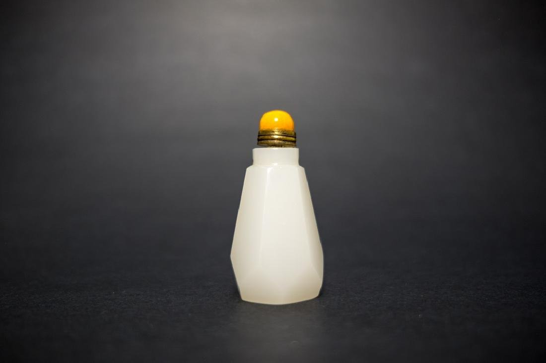 A White Glass Snuff Bottle