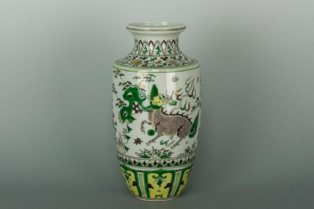 SanCai Phoenix Vase